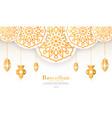 ramadan mubarak decorative lamps vector image vector image