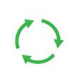recycle icon symbol simple design vector image vector image