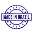 scratched textured made in brazil stamp seal vector image vector image