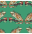 seamless pattern with hand drawn iguana vector image vector image