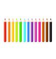 set bright color pencils vector image