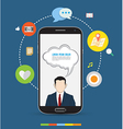 Smartphone design concept icons vector image vector image