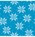 Snowflakes on knitted background vector image vector image