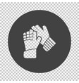 soccer goalkeeper gloves icon vector image vector image
