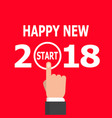 start new year 2018 idea vector image vector image