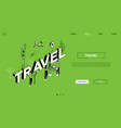 traveling time colorful landing page vector image