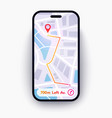 trendy infographic city map navigation mobile app vector image