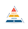 triangle infographic element flat chart diagram vector image vector image