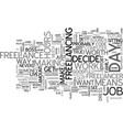 why freelance text word cloud concept vector image vector image