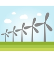 Wind power plants vector image