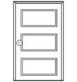 Wooden door vector image vector image