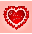 Big heart with the inscription vector image