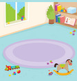 kindergarten room playroom interior vector image
