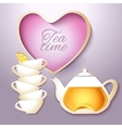 Cof tea and teapot vector image