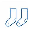 Thin Line Socks Icon vector image