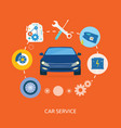 Auto mechanic service flat icons of maintenance vector image