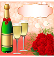 Christmas champagne background vector image