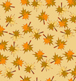 Seamless Background with Autumn Leaves Pattern vector image