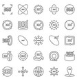 360 degrees outline icons degree vector image