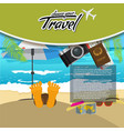 3d realistic travel and tour creative poster vector image vector image