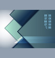 abstract blue geometric square overlapping on vector image vector image