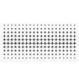 airplane shape halftone array vector image vector image