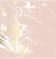 autumn foliage rose gold blush background vector image vector image