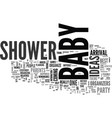 baby shower ideas text word cloud concept vector image vector image