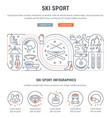 banner ski sport vector image