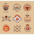 barbecue grill labels badges bbq logos vector image