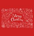 big set christmas design doodle elements 3 vector image vector image