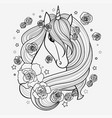 black and white hand drawn vector image vector image