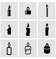 black candles icon set vector image vector image