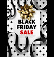 black friday sale promotional poster with lush vector image