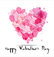 Blots color of hearts vector image vector image