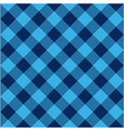 Blue check diagonal textile seamless pattern vector image vector image