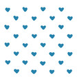 blue hearts pattern background heart vector image