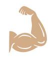 bodybuilder arm icon design template