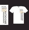 Brooklyn athletic apparel design with example on
