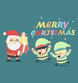 christmas poster design card with santa vector image