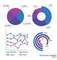 circle flat infographics and arrows graphs vector image