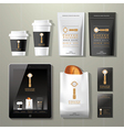Coffee factory vintage corporate identity template vector image vector image