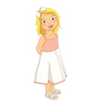 Cute Blonde Girl vector image vector image