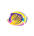 cute fish regal cartoon vector image vector image