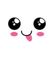 cute kawaii cartoon face vector image vector image