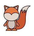 cute skunk woodland animal vector image vector image
