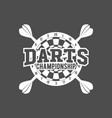 darts labels set badge logos vector image vector image