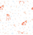 dog seamless christmas pattern vector image vector image