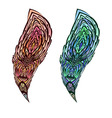 Doodle feather vector image vector image