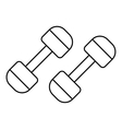 Dumbbells icon outline style vector image vector image